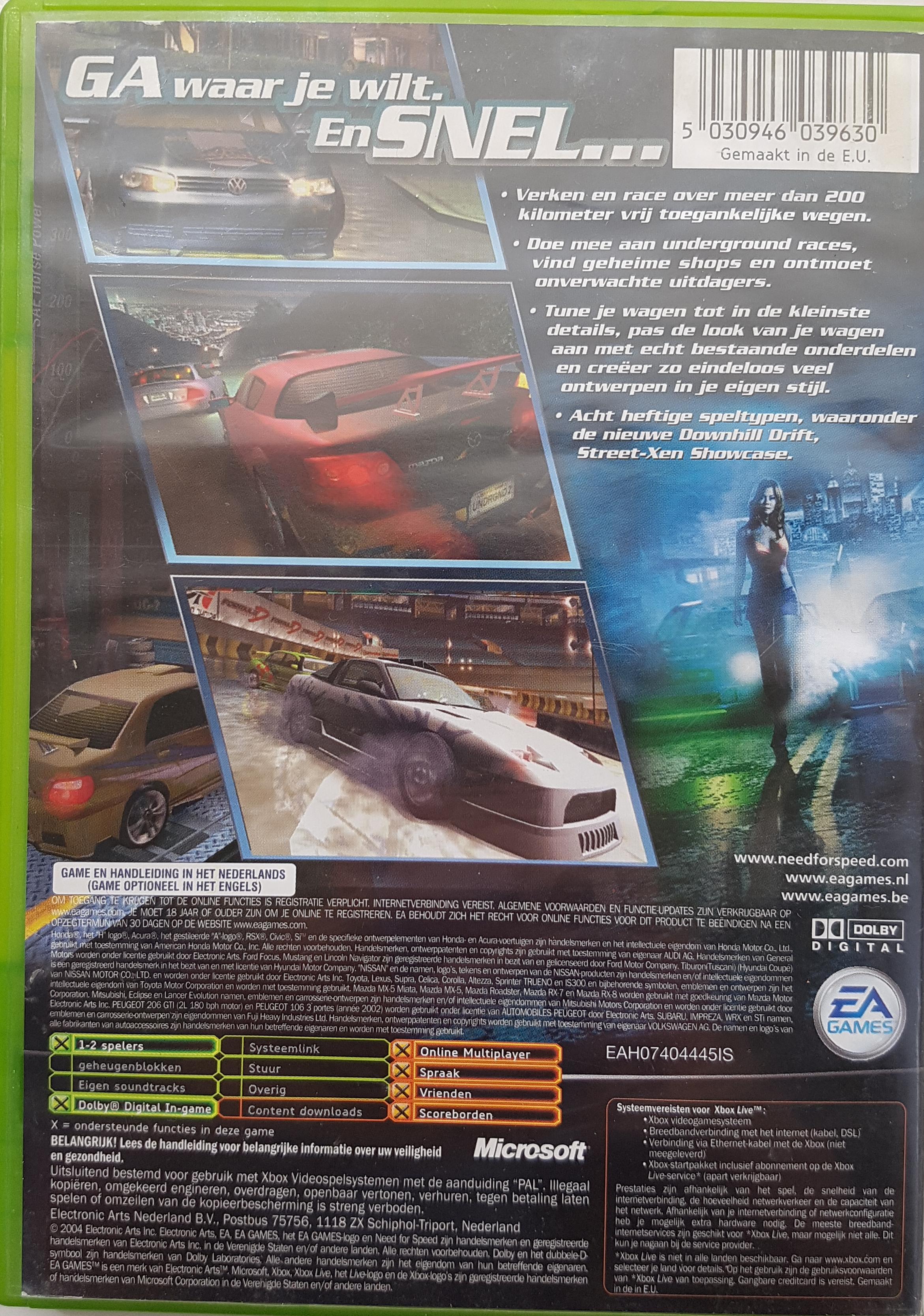need for speed underground 2 xbox 1